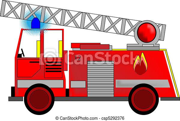 消防車, イラスト - csp5292376