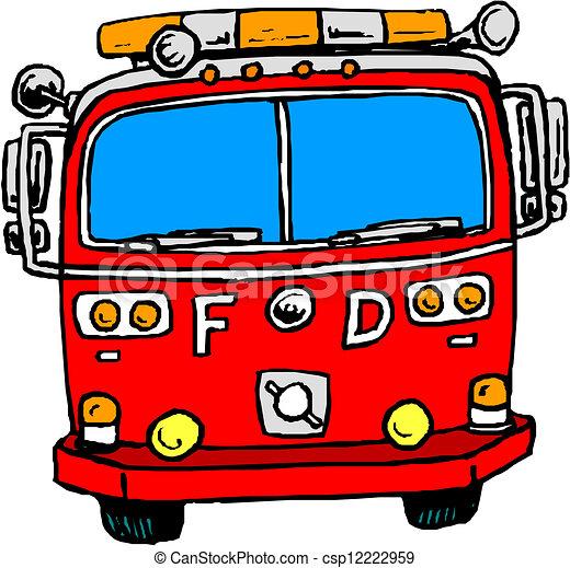 消防車 - csp12222959