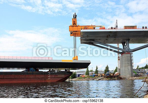湾, てんま船, 橋, リフト - csp15962138