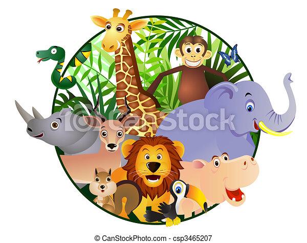 漫画, 動物 - csp3465207