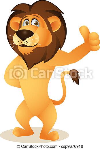 漫画, 面白い, ライオン - csp9676918