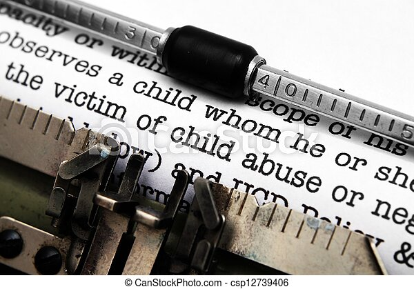 濫用, 形態, 子供 - csp12739406
