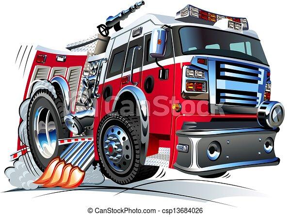 火トラック, 漫画 - csp13684026