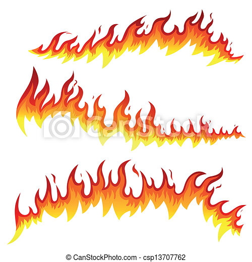 火, ベクトル, 要素 - csp13707762