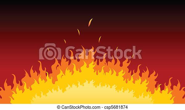 火, 炎, 燃焼 - csp5681874