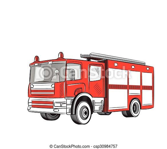 火, truck. - csp30984757