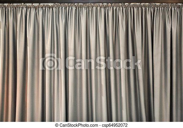 灰色, カーテン - csp64952072