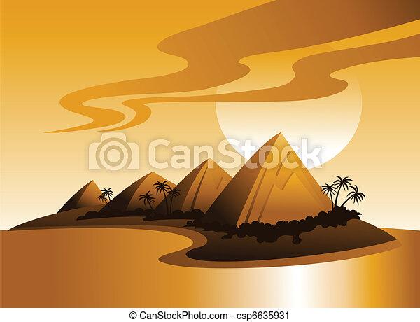 熱帯 島, イラスト - csp6635931