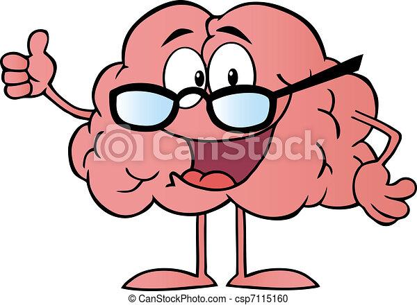 特徴, 身に着けていること, 脳, ガラス - csp7115160