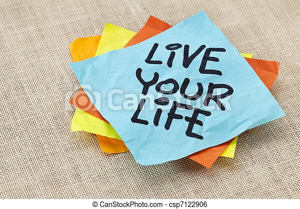 生きている, メモ, 生活, あなたの - csp7122906