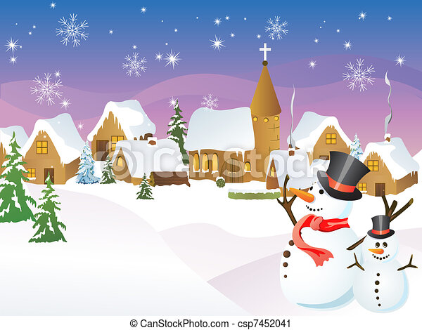 町, クリスマス - csp7452041