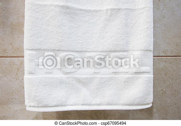 白, ホテル, タオル, きれいにしなさい - csp67095494