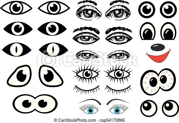 目, ベクトル, セット - csp54170866