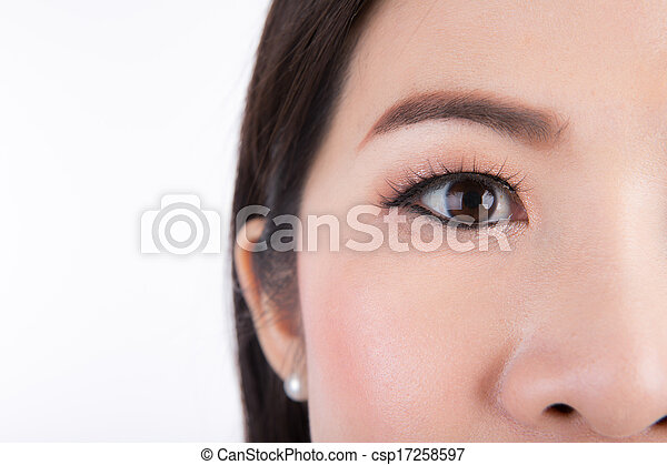 目, 終わり, 女, の上 - csp17258597
