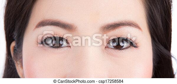 目, 終わり, 女, の上 - csp17258584