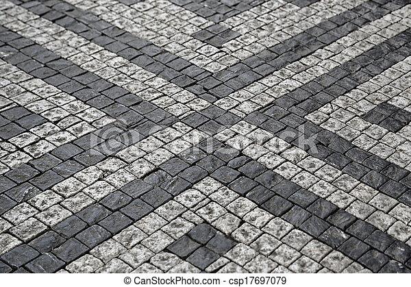 石, パターン, 通り, 舗装 - csp17697079