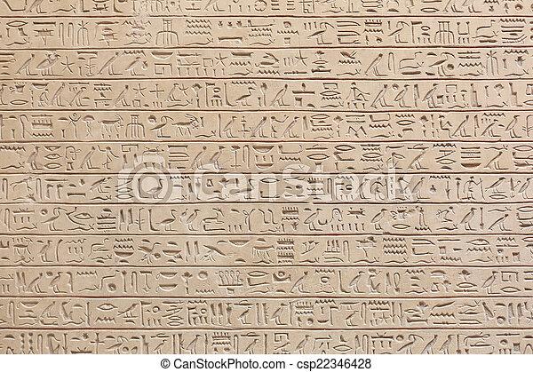 石, 象形文字, 背景, エジプト人 - csp22346428