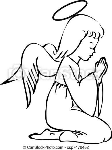 祈ること, 天使 - csp7478452