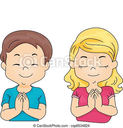 祈ること, 子供 - csp6534824