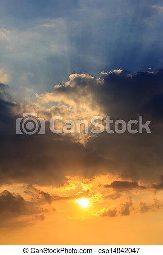 空, 日没 - csp14842047