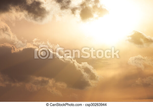 空, 日没 - csp30263944
