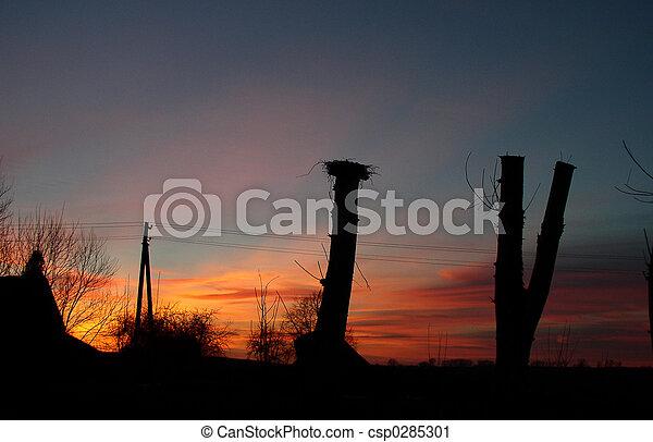 空, 日没 - csp0285301