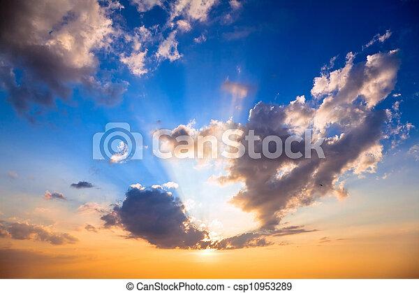 空, 日没 - csp10953289
