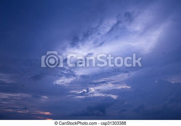 空, 日没 - csp31303388