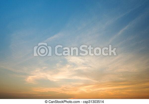 空, 日没 - csp31303514
