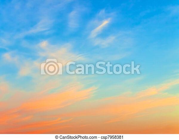 空, 日没 - csp7958381