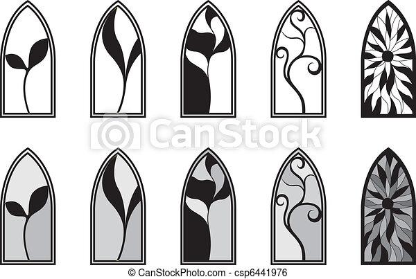 窓, ガラス, 汚された - csp6441976