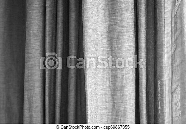 窓, 灰色, 白, カーテン - csp69867355