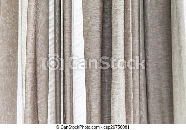 窓, 灰色, 白, カーテン - csp26756081