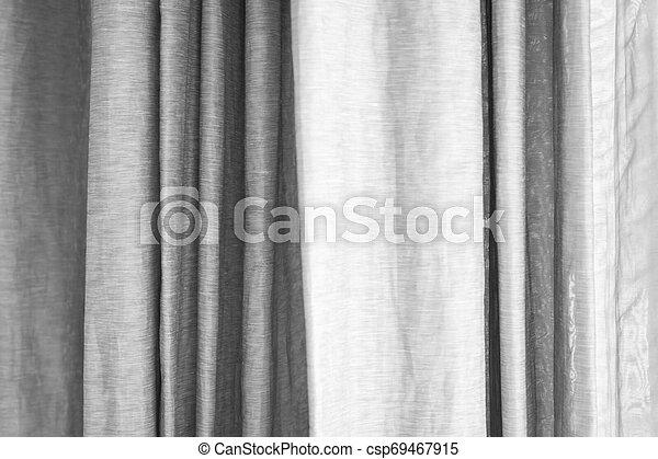 窓, 灰色, 白, カーテン - csp69467915