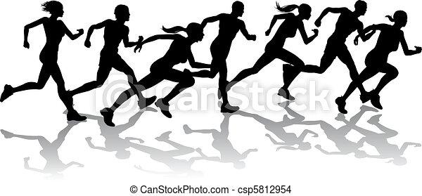 競争, ランナー - csp5812954