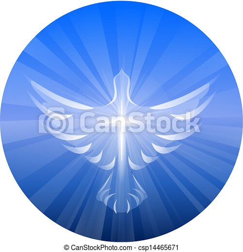 精神, 神, 神聖, 表すこと, 鳩 - csp14465671