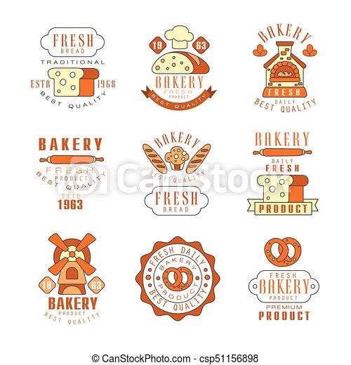 紋章 店 ロゴ 型 会社 パン屋 ベクトル パン屋 イラスト 新たに デザイン Bread 紋章 店 ロゴ 型 会社 パン屋 ベクトル 背景 パン屋 イラスト 新たに 白 デザイン Bread Canstock