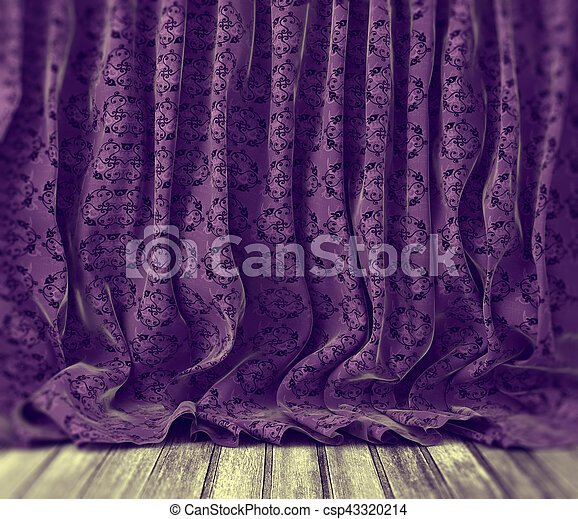 紫色, 花, 背景, カーテン - csp43320214
