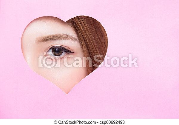 終わり, 女性の目, の上 - csp60692493