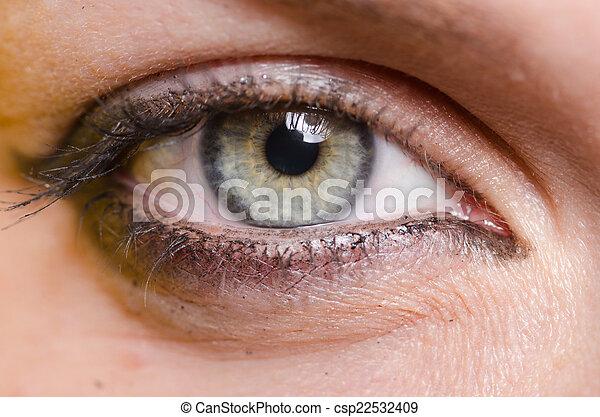 終わり, 女性の目, の上 - csp22532409