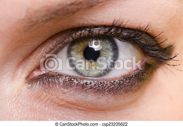 終わり, 女性の目, の上 - csp23235622