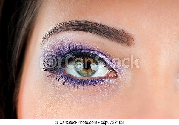 終わり, 女性の目, の上 - csp6722183