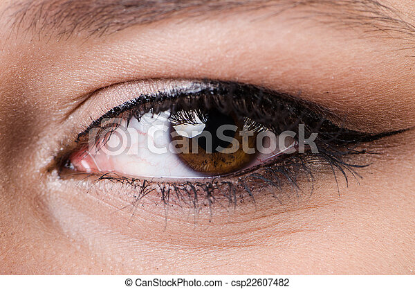 終わり, 女性の目, の上 - csp22607482