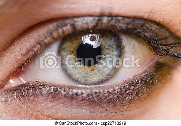 終わり, 女性の目, の上 - csp22713219