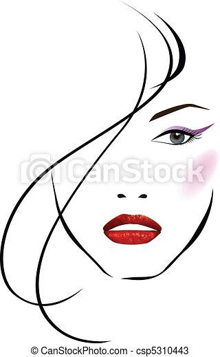 美しい, 女の子, 顔 - csp5310443