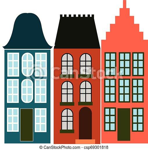 美しい, 色, イラスト, ベクトル, アムステルダム, ∥あるいは∥ - csp69301818
