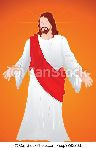 肖像画, キリスト, イエス・キリスト - csp9292263