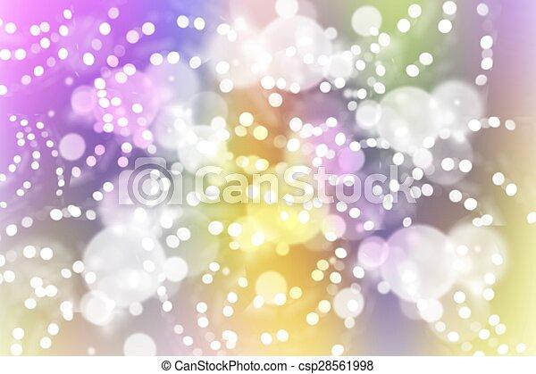 背景, 抽象的, ライト, カラフルである - csp28561998