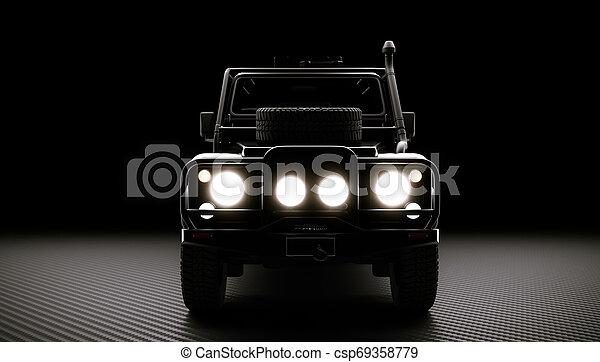 自動車, オフロードで, 背景 - csp69358779