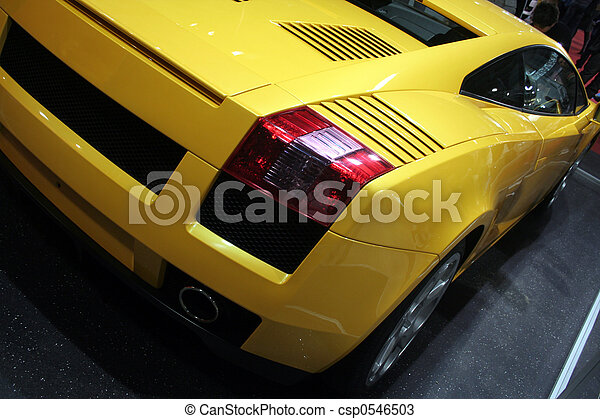 自動車, 後部光景 - csp0546503